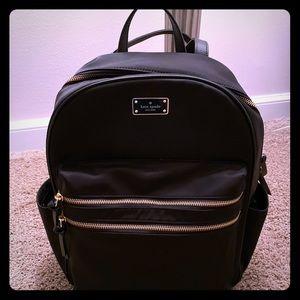 Kate Spade Large Nylon Backpack - Black